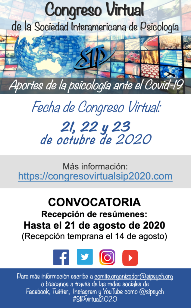 cartel congreso virtual psicología covid-19